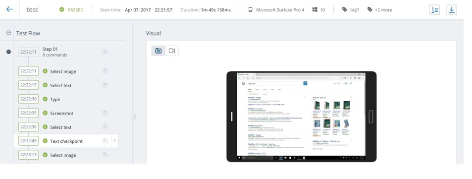 Test Automation for Windows 10 Surface | Perfecto
